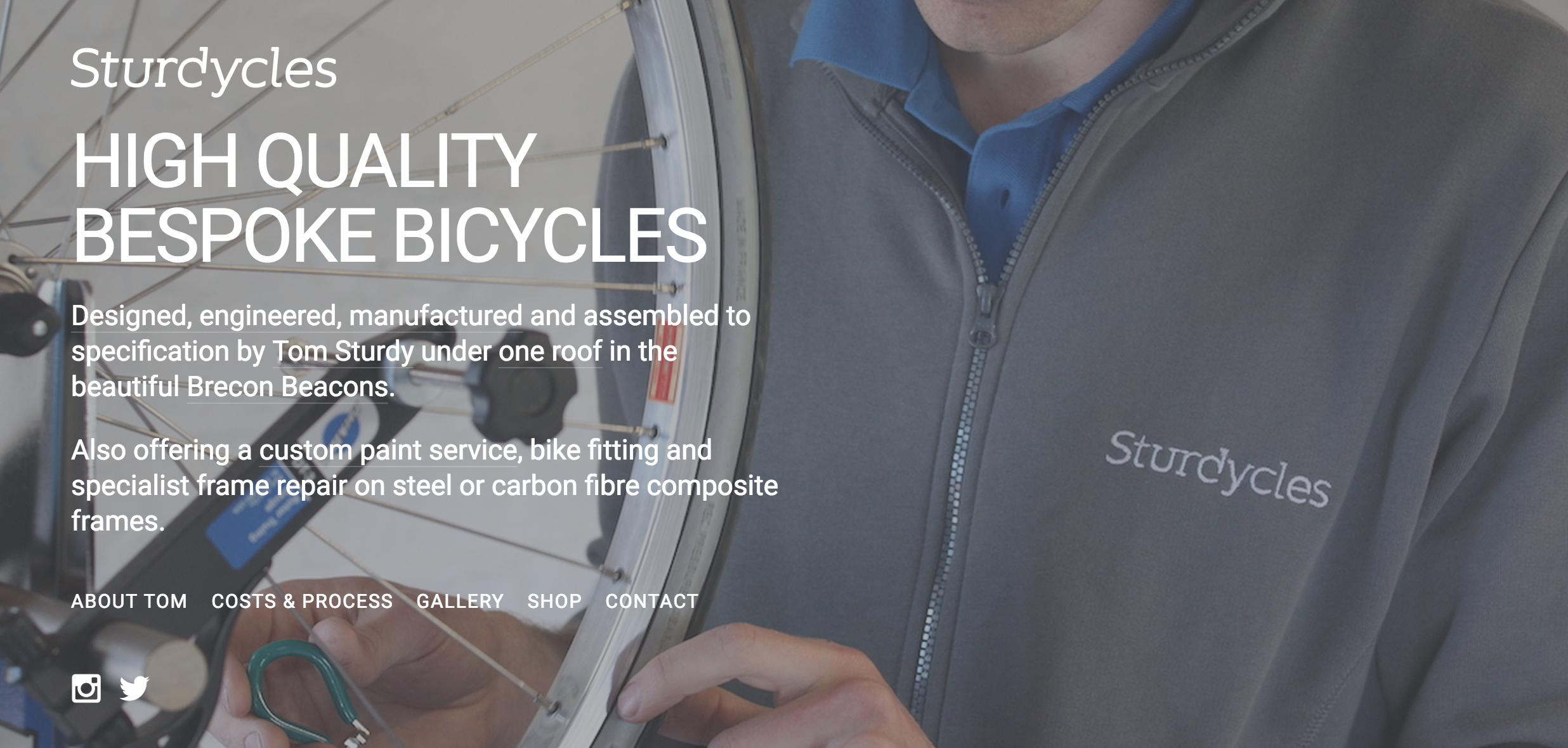 Tom Sturdy Cycles Brecon Wales Cardiff Cyclist Delightful Bespoke Online Bike Shops